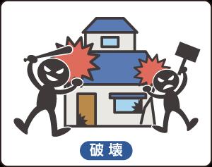 火災保険(破壊)